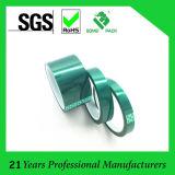 Cinta verde da alta temperatura de Mylar, poliester con la cinta adhesiva del animal doméstico del silicón