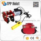 Piccola gru elettrica portatile 800kg della fune metallica per le merci di sollevamento