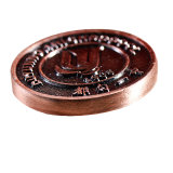 Gold /Silver/Copper oder antike seitliche kundenspezifische Münze des Überzug-zwei
