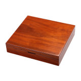 Visualizzazione di legno che impacca, contenitore della moneta di alta qualità di imballaggio su ordinazione del regalo del MDF