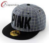 Capwindow promocional negro nuevo Hip Hop Tapa Snapback con bordados
