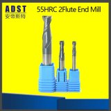 Hartmetall-Aluminium, welches 2/3 die Flöten CNC-Enden-Tausendstel aufbereitet