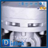 Válvula de porta do aço de liga da engrenagem de sem-fim da fábrica de Didtek China com válvula de desvio