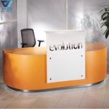 현대 호화스러운 디자인 수신 가구 노련한 단단한 지상 Corian L 모양 사무실 접수처