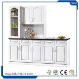 Armário barato da cozinha da cópia do PVC das portas do gabinete de cozinha 5 da placa de partícula