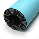 Logo imprimé bleu OEM PU Tapis de Yoga