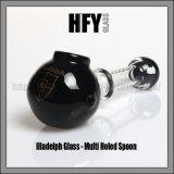 Tubo que fuma agujereado multi de cristal de cristal de la mano de la cuchara de Hfy Illadelph