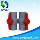 Válvula de bola PVC estándar DIN con 110mm de color gris