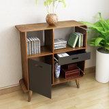 Biblioteca de madeira da noz Home da mobília com gaveta