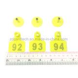 Markering met lage frekwentie van het Oor RFID van de Koe 125kHz/134.2kHz/van het Varken/van het Blad TPU de Dierlijke