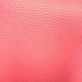 Couro macio colorido do plutônio do teste padrão de Lichee para as bolsas e as sapatas Hsk001