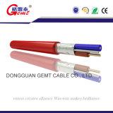 Обшитый PVC гибкий кабель пожарной сигнализации кабеля системы управления