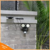 22 de la luz solar LED Sensor de movimiento PIR dos cabezales rotatorio Outdoor Indoor Lámpara de Pared Jardín Spotlight