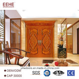 Двери входа главные двойные деревянные внешние с Carvings