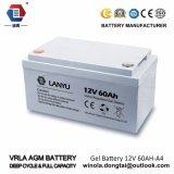 12V60ah VRLA Tief-Schleife Solargel-Batterie