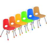 플라스틱 의자를 가진 대중적인 디자인 학교 책상