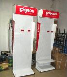 Présentoir intense personnalisé par OEM d'étage de lait en métal de constructeur