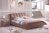 Коричневый цвет супер мягкий материал кровать