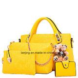 China-stellte Großhandelsentwerfer-Frauen-Beutel 4 Stücke lederne Dame-Beutel-Handtaschen-ein