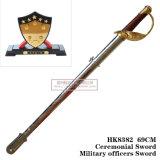 Espada comandante chinesa com a espada cerimonial 69cm HK8382 dos oficiais do exército da espada do carrinho