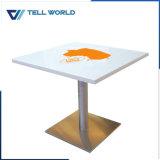 Fabrico o logotipo OEM superfícies Corian sala de jantar mesa de café