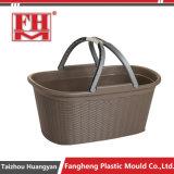 プラスチック注入PPの藤の記憶の洗濯物入れの容器型