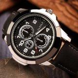 Heiße verkaufenentwurfs-Japan-Quarz-Bewegungs-lederne Brücke-Mann-Sport-Uhr der form-Z350