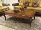 Madera sólida del estilo clásico real 0051 que pinta la mesa de centro del color oscuro