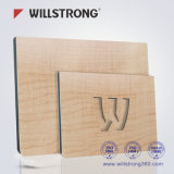 Textura de madera Panel Compuesto de Aluminio para fachadas Ce/ISO