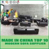 Hauptmöbel-Schwarz-neues Entwurfs-Wohnzimmer-Leder-Sofa