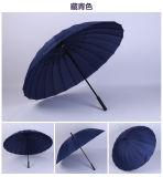 Fornitore manuale diritto promozionale aperto dell'ombrello dell'alluminio 24K dell'ombrello dell'elemento del regalo dell'automobile antivento impermeabile
