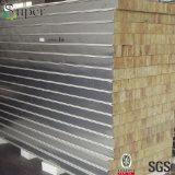 El panel de pared de acero de emparedado de Rockwool del color para la estructura de acero