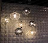 Iluminación pendiente de cristal de la sala de estar casera retra moderna (AP9022-1)