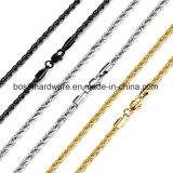 Tonalité d'argent de la corde en acier inoxydable Bracelet Chaîne