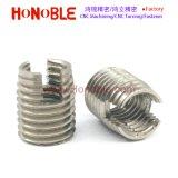 Pieza inserta roscada penetrante del acero inoxidable M12 para los plásticos