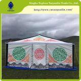 Tessuto rivestito Tarps del PVC di alta qualità 2017 per la tenda Tb017