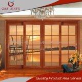 Puertas interiores/exteriores de la puerta deslizante del balcón de cristal doble de aluminio del panel