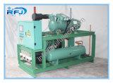 Température élevée se condensante de frigorification de crémaillère d'élément de compresseur à vis simple refroidie par air