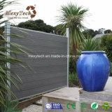 Cerca plástica de madeira do composto WPC da instalação fácil com borne de alumínio