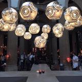 De moderne Creatieve Lamp van de Tegenhanger van het Roestvrij staal van de Vorm van de Bal Decoratieve Lichte