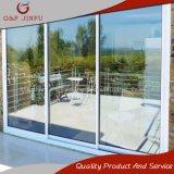 El aluminio corredizas de vidrio endurecido de la puerta del patio para jardín o balcón