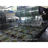 Máquina cozinhada da selagem da bandeja da embalagem do arroz