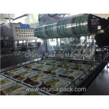 Máquina cocinada del lacre de la bandeja del embalaje del arroz