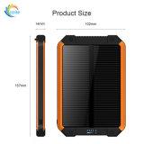 Batterie externe Téléphone étanche nouveau 12000mAh Banque d'énergie solaire