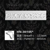 Cornisa del poliuretano que moldea la placa de pared del moldeado de corona de la PU Hn-80105