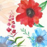 Flores decorativas hechas a mano de pintura al óleo con alta calidad