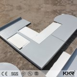 Zuivere Witte Kunstmatige Countertop van de Keuken van de Steen van het Graniet