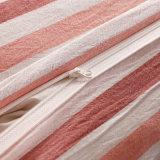 Het roze van de Katoenen van de Streep Hotel Duidelijke In het groot Dekking van het Bed