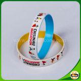 Freier Entwurfs-Strudel-SilikonWristband für Weihnachtsgeschenk