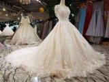 Vestido de casamento de perolização franjando Handmade da esfera do laço de Champagne